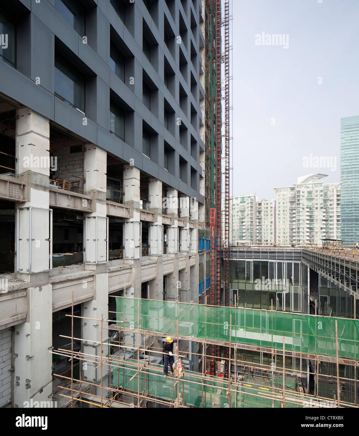 Shenzhen Stock Exchange, OMA, Shenzhen, China, 2012 - Stock Image