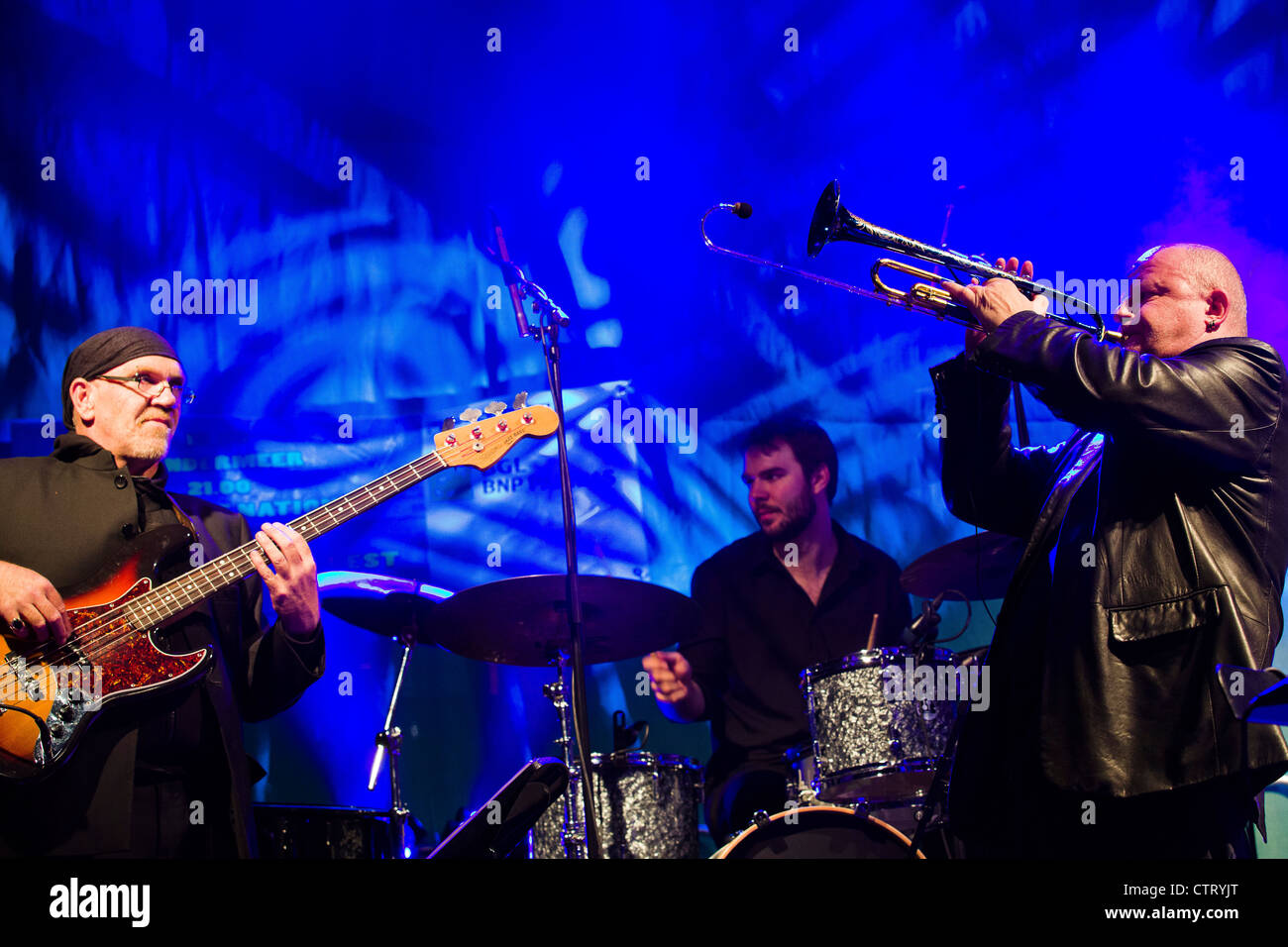 Luxembourg City - Rives de Clausen - Concert by Gast Waltzing and Friends at the Blues and Jazz Rallye. - Stock Image