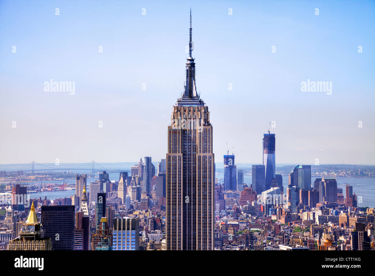 midtown & lower Manhattan, New York inc Empire State building, Empire State building New  York City, Empire - Stock Image