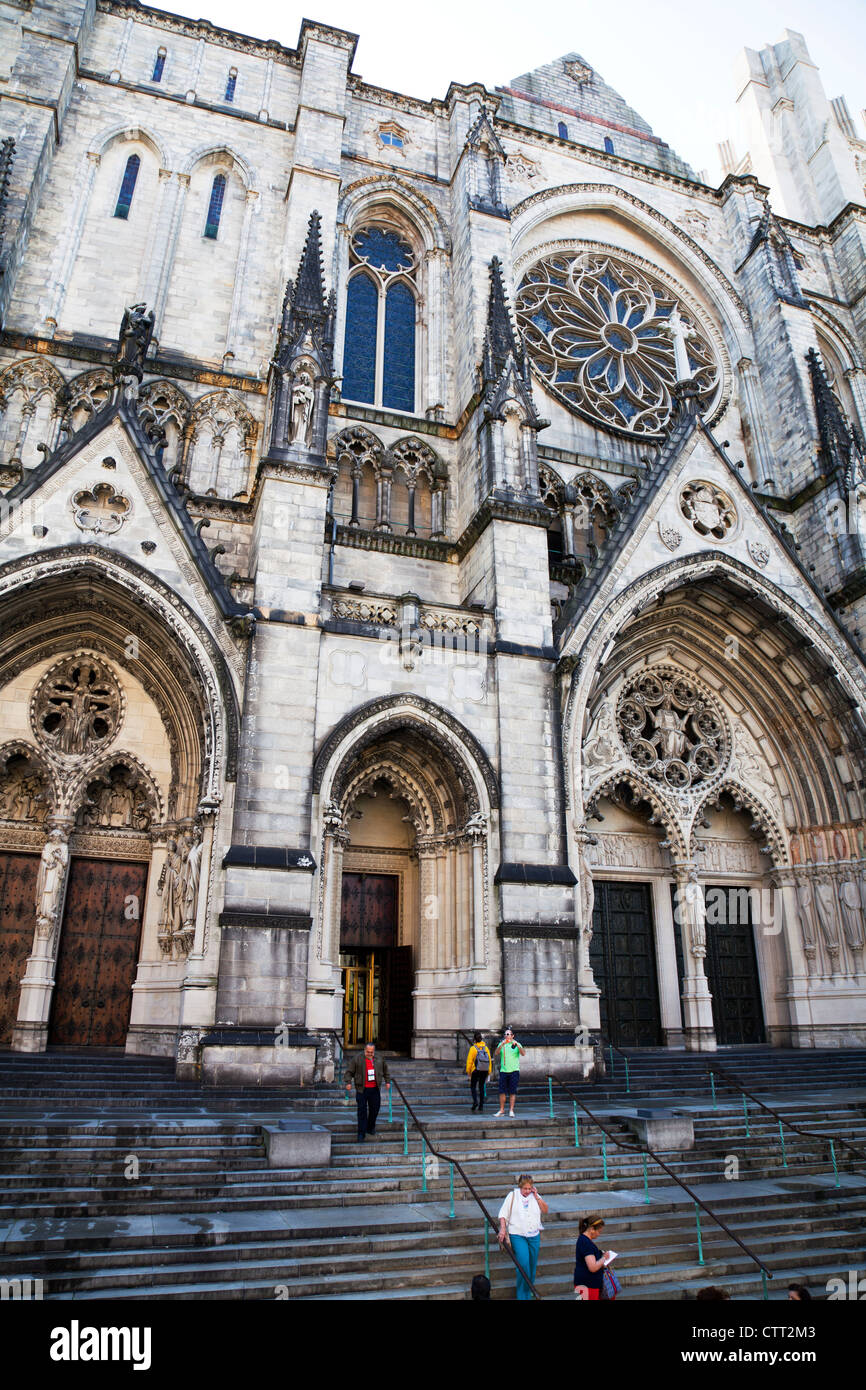 The Cathedral Church of St John the Divine 1047 Amsterdam Avenue New York the mother church of the Episcopal Diocese - Stock Image