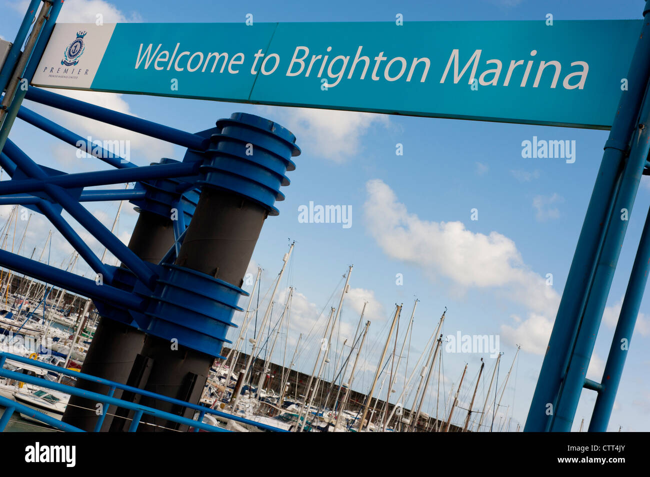 Welcome to Brighton Marina Sign - Stock Image