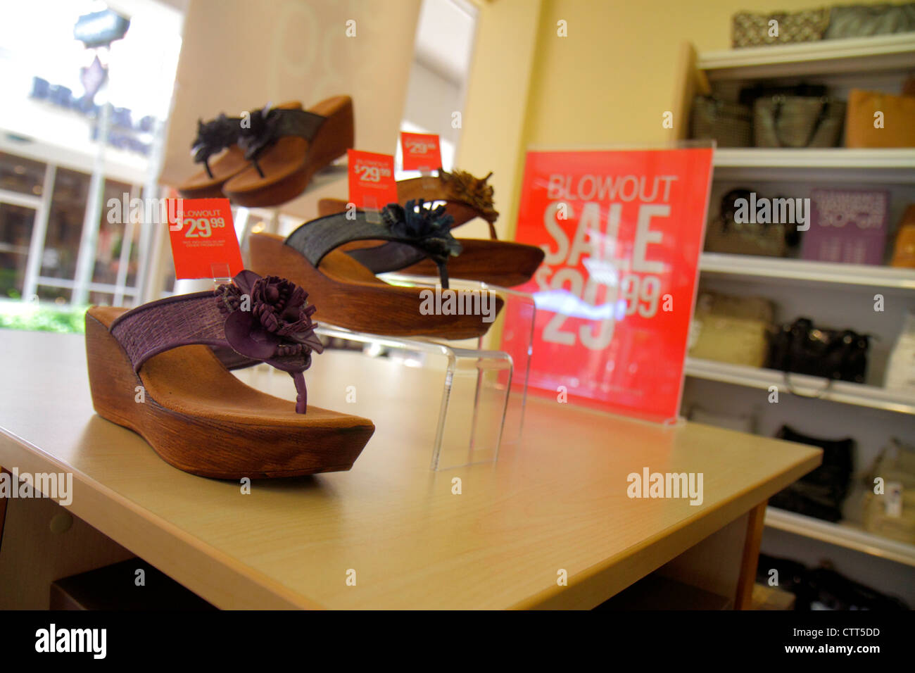 Florida Estero Miromar Outlets shopping retail display for