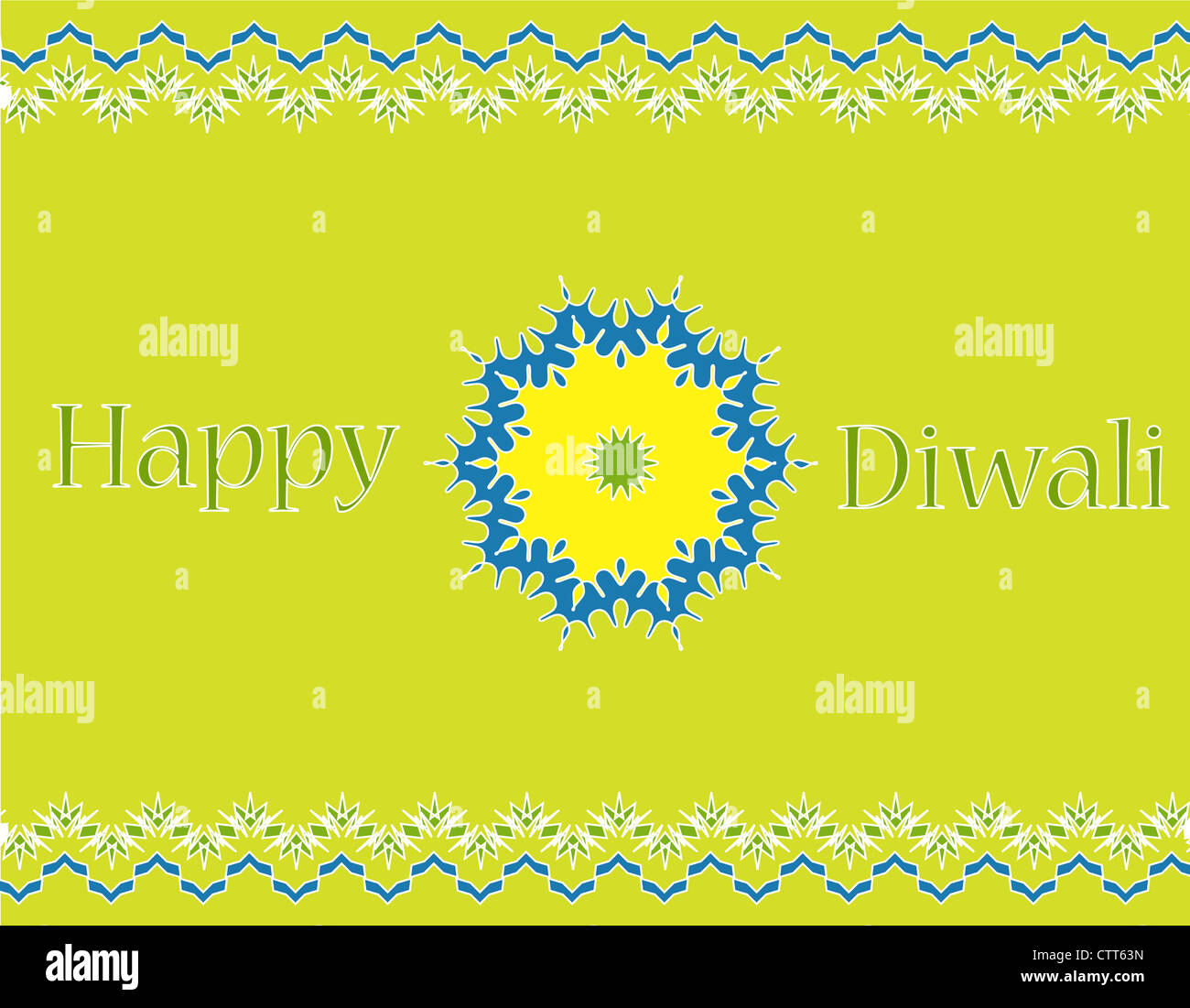 Colorful Indian festival Diwali greetings with decorative design Stock Photo