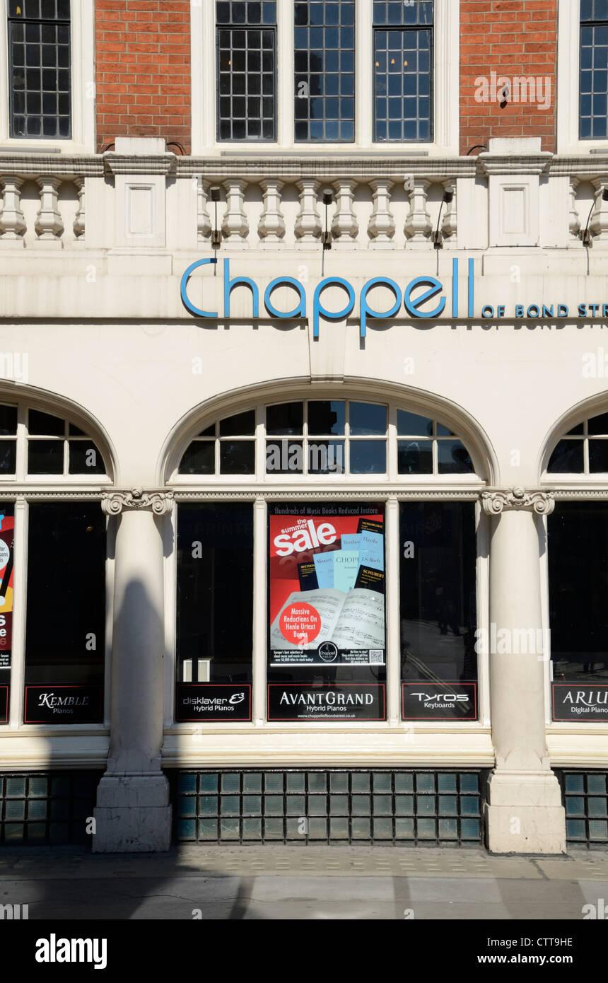 Chappell Music music shop in Wardour Street, London, UK - Stock Image