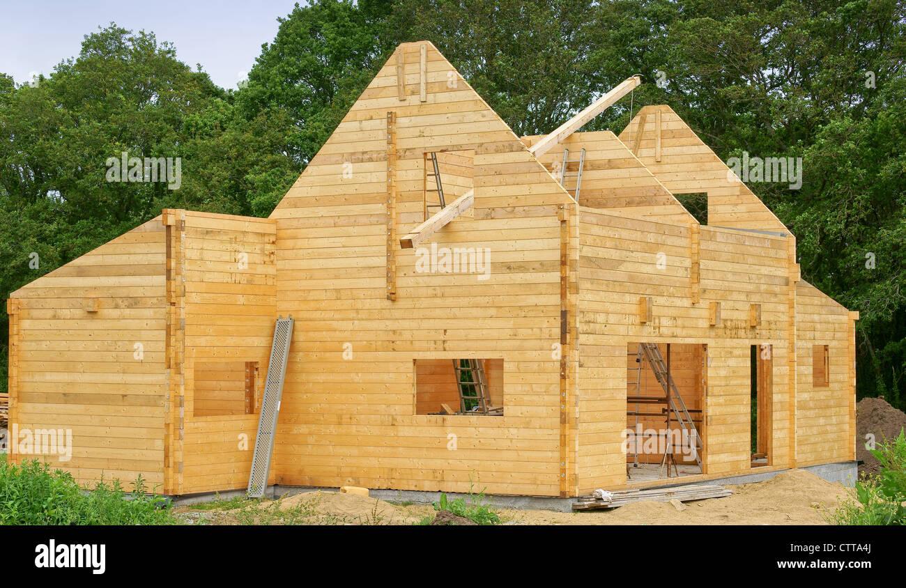wood frame house - Stock Image