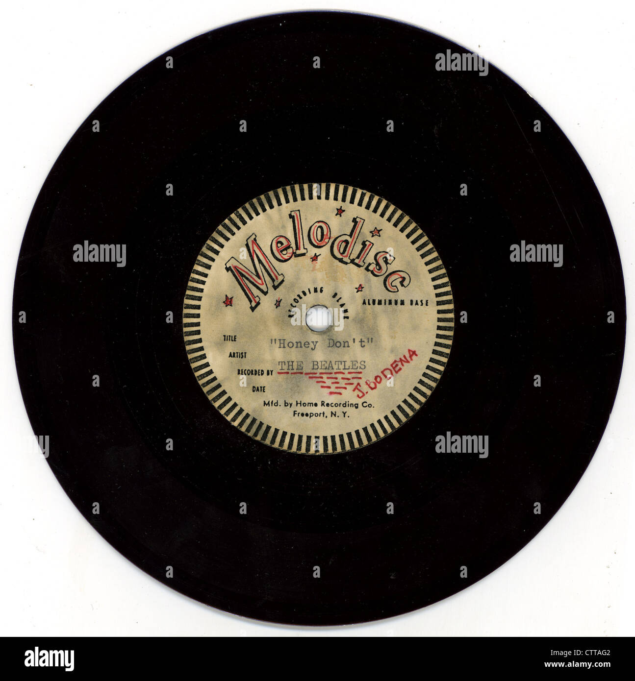 000908 - The Beatles 1964 Melodisc Record for Honey Don't - Stock Image