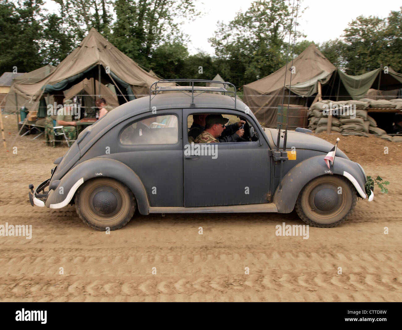 WW2 Volkwagen Beatle LIP WH 37 H - Stock Image
