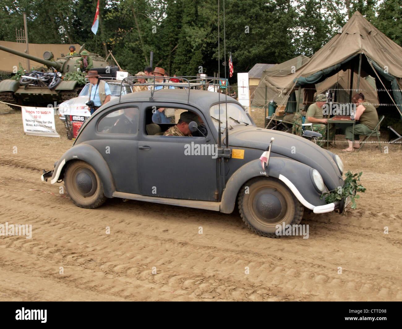 WW2 Volkwagen Beatle LIP WH 37 H - Stock Image