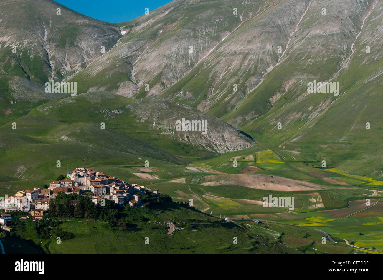 View of Castellucio, Umbria, Italy - Stock Image