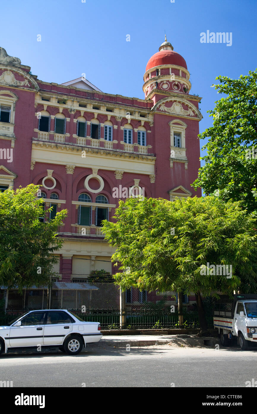 The Ministers' Building in downtown (Rangoon) Yangon, (Burma) Myanmar. Stock Photo
