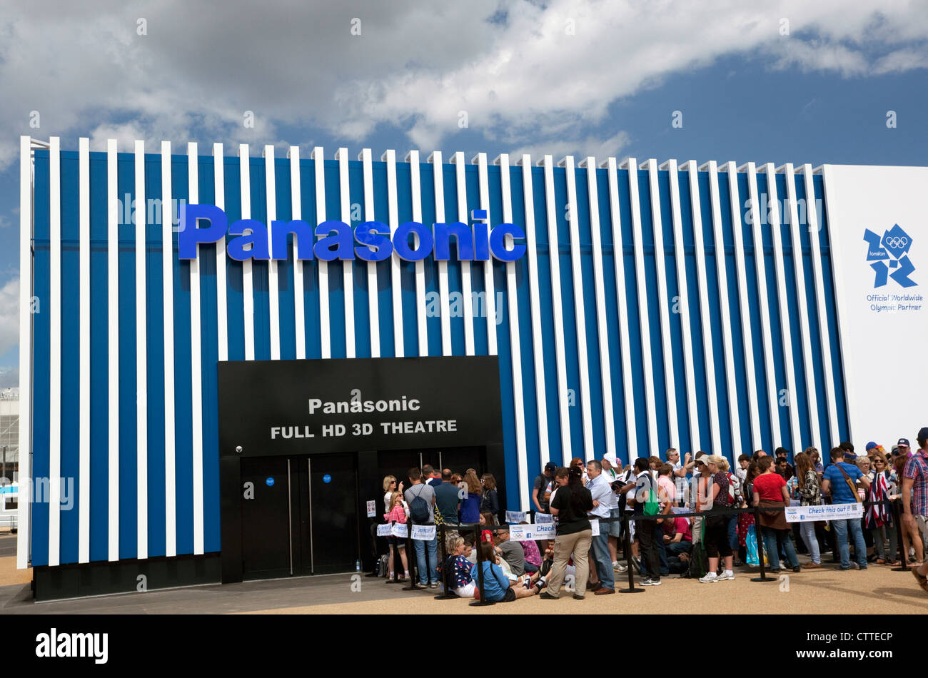 Panasonic HD 3D cinema in Olympic Park, London - Stock Image