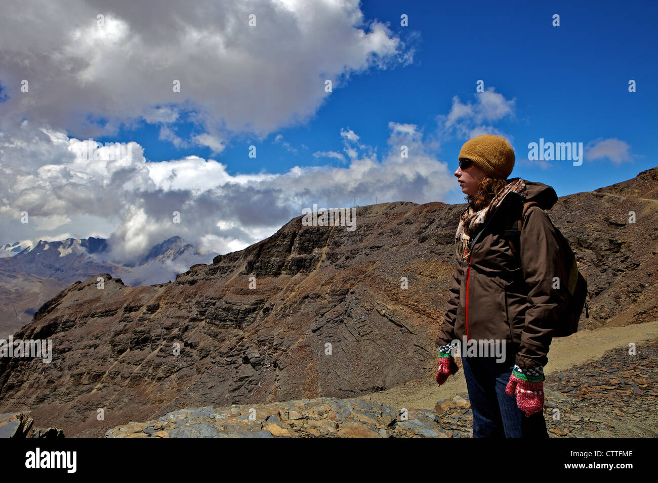 Mt. Chacaltaya, Calahuyo, Cordillera real, Bolivia, Andes, South America, (the Altiplano, high plateau near La Paz) - Stock Image