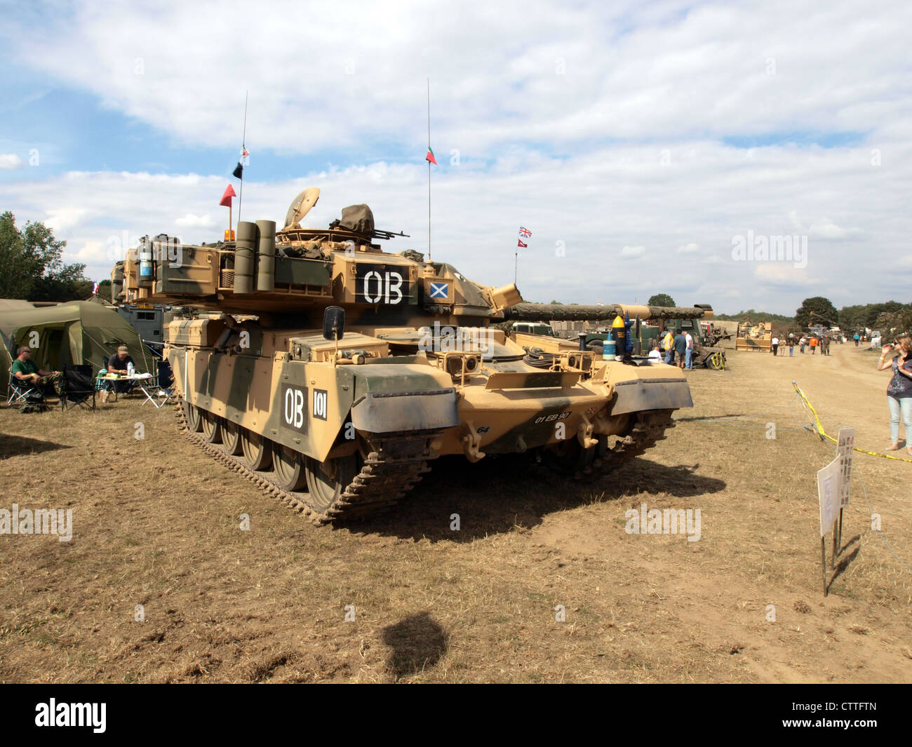 Chieftain MkII of the Royal Scots Dragoon Guards - Stock Image