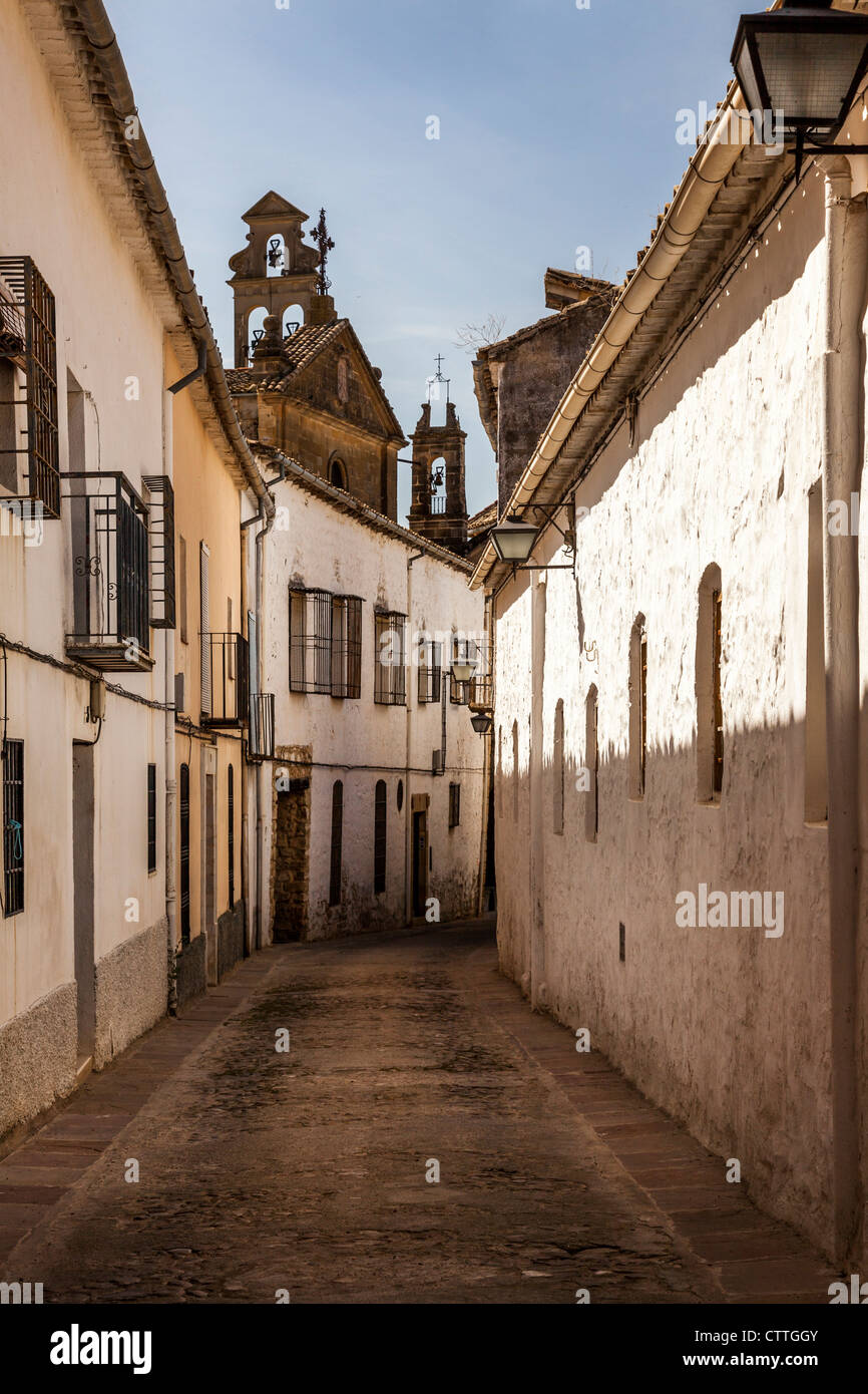 Street scene street in Úbeda, Jaén, Andalusia, Spain. Europe. - Stock Image