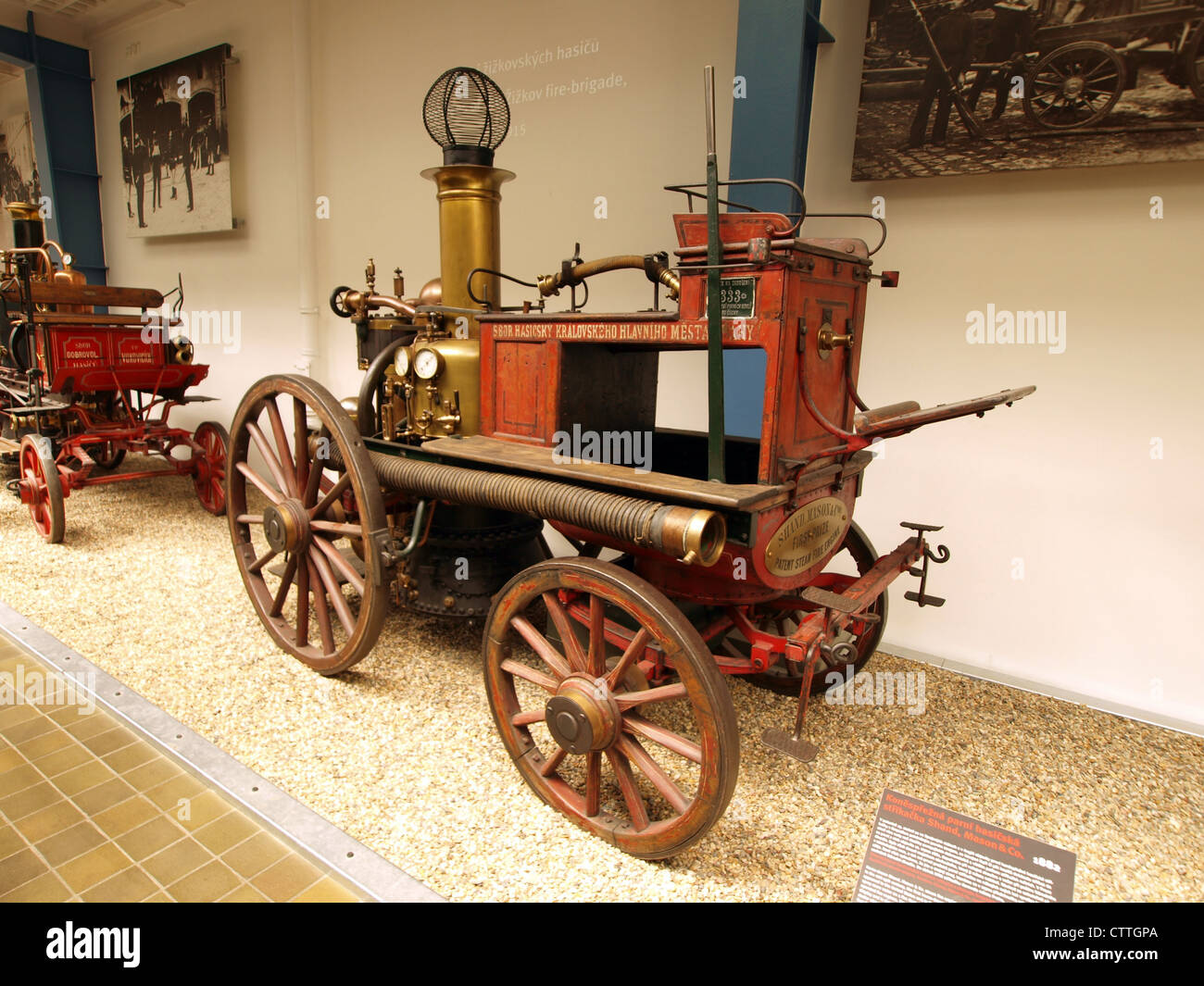 Horse Drawn Fire Engine Stock Photos & Horse Drawn Fire
