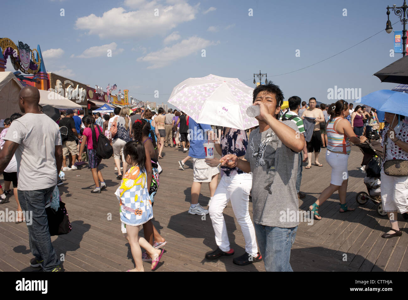 Fourth of July at Coney Island. - Stock Image