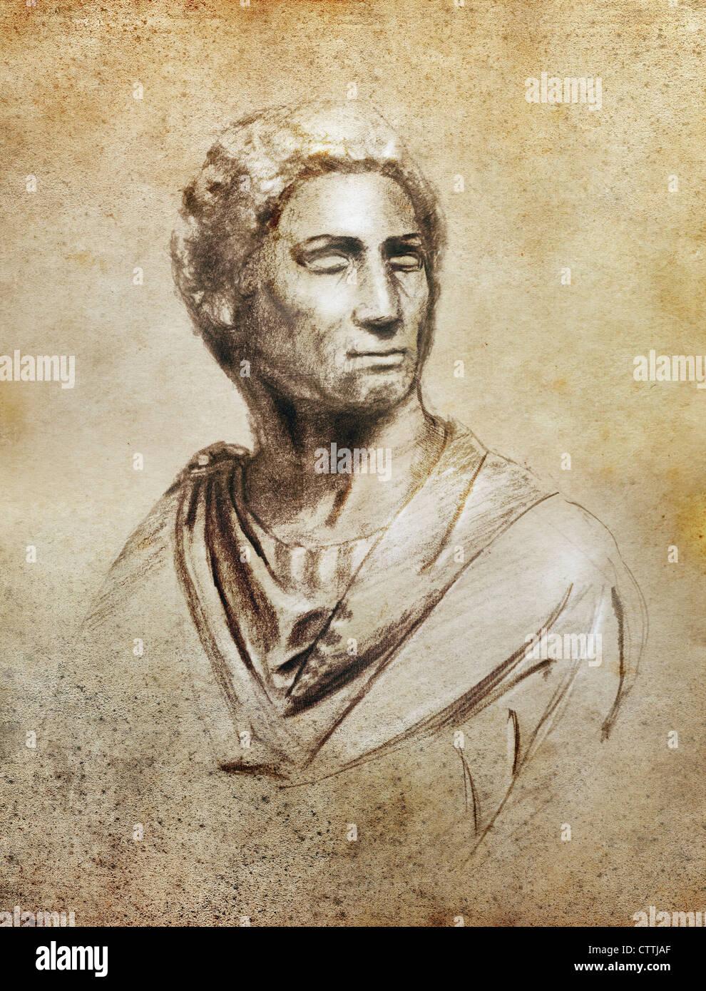 Brutus portrait - Stock Image