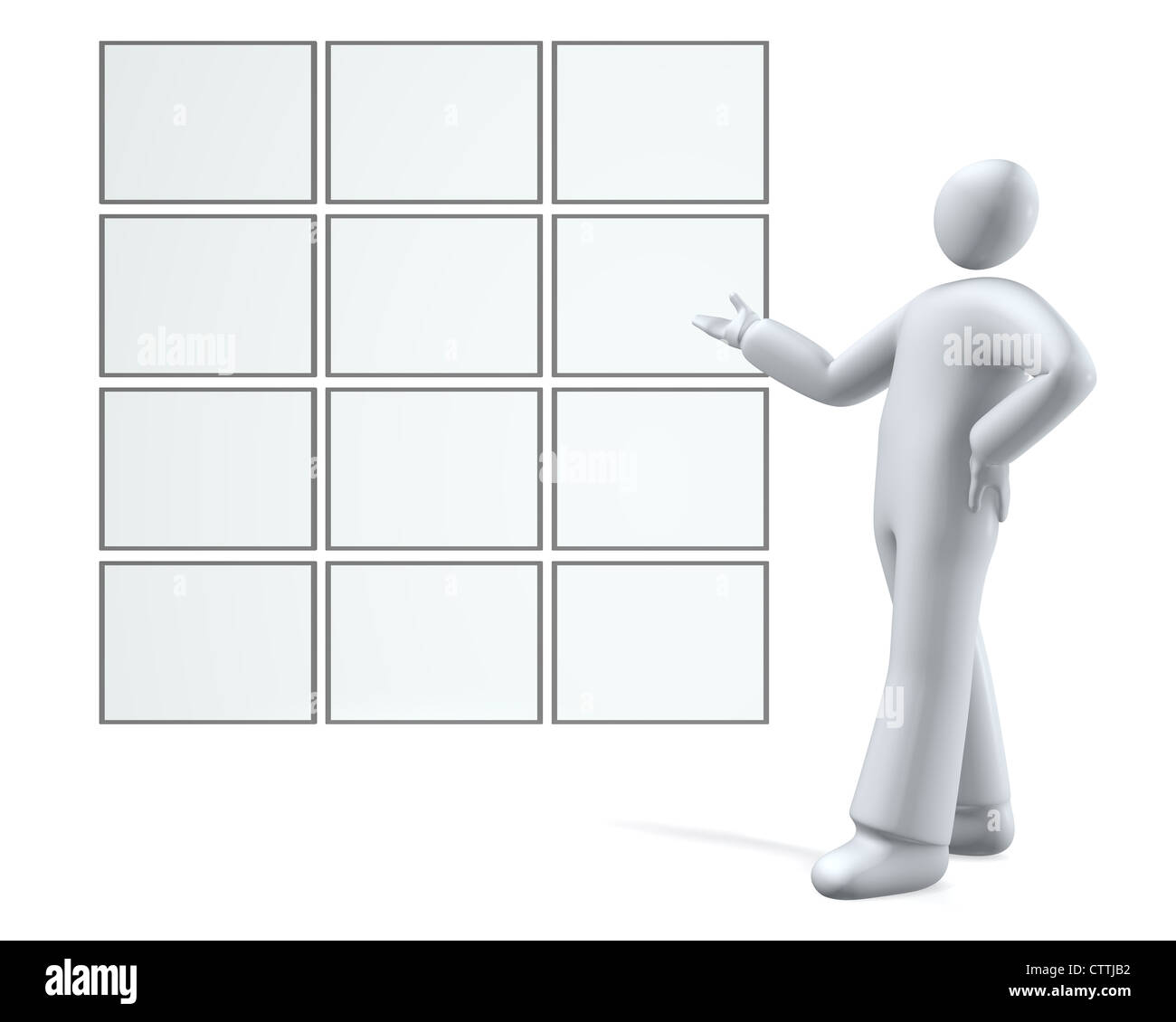 Empty screens / boards for presentation and show - Stock Image