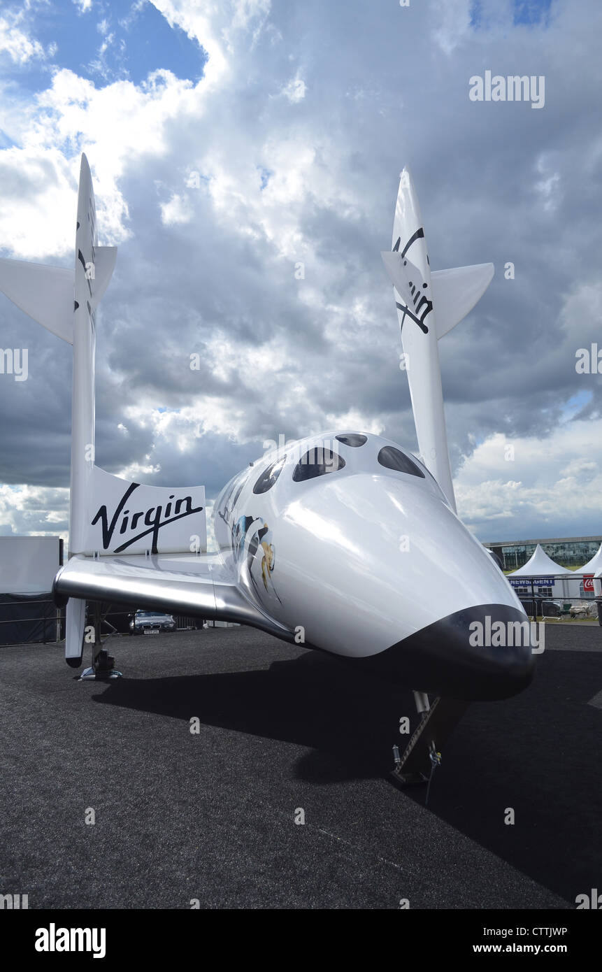 Virgin Galactic Spaceship Two replica on display at Farnborough International Airshow 2012 - Stock Image