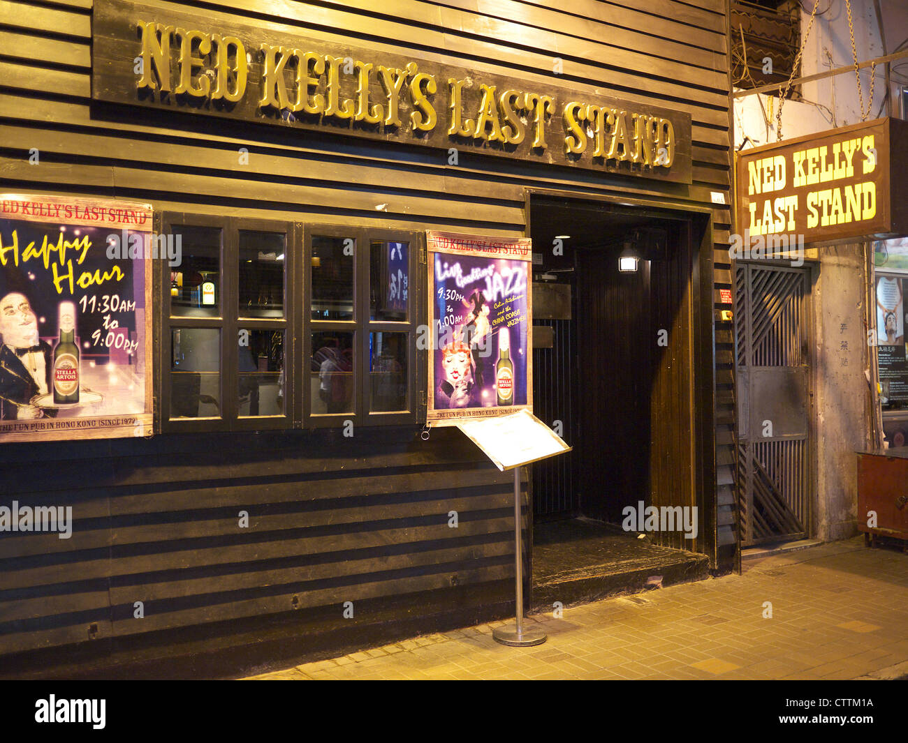 Ned Kelly's Last Stand pub in Kowloon Hong Kong - Stock Image