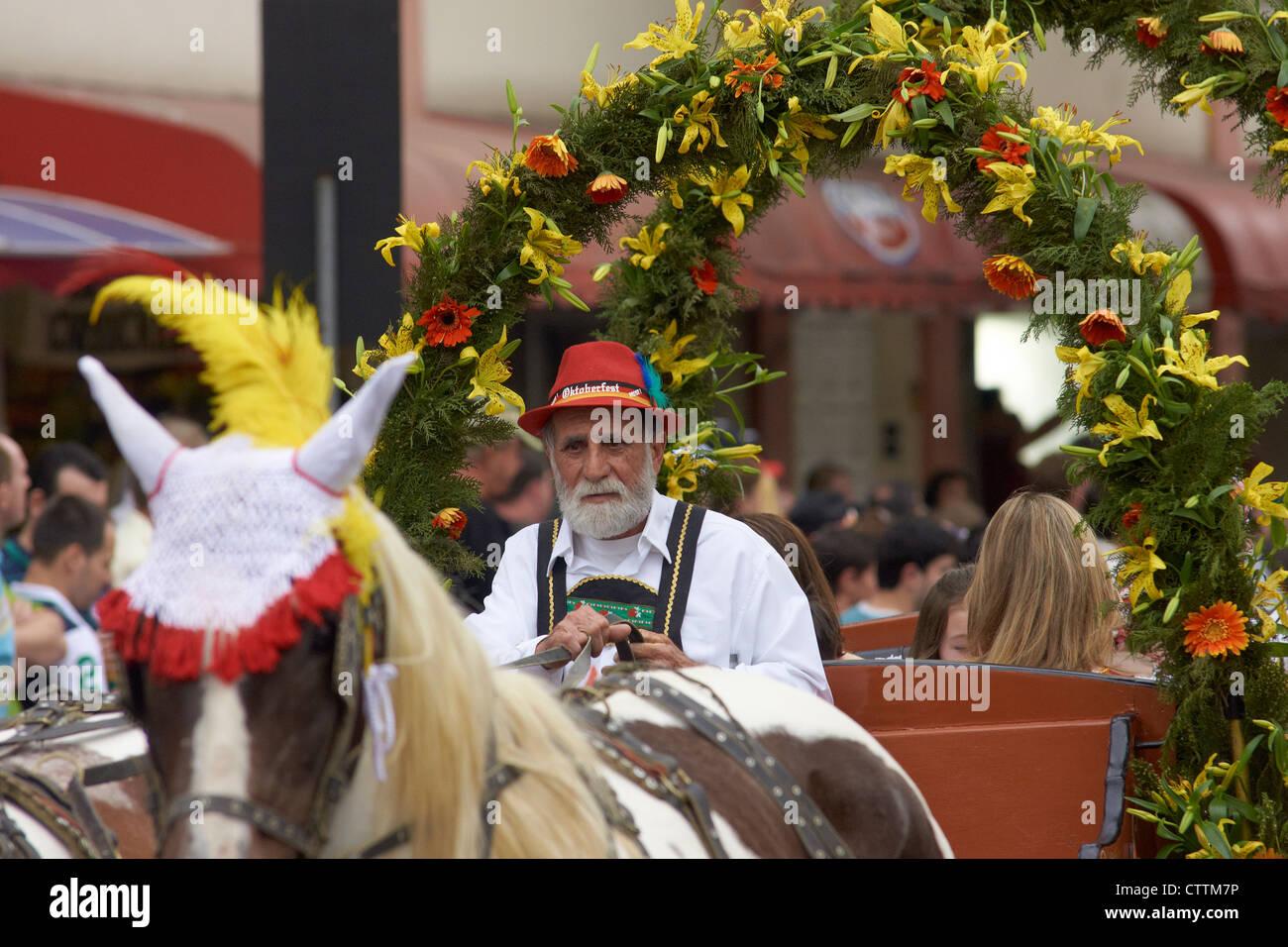 White bearded coachman Stock Photo