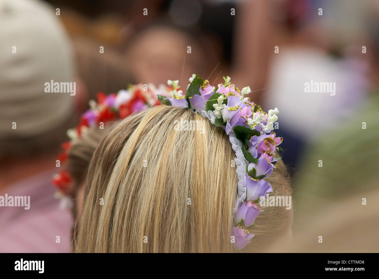 German style hair adornment - Stock Image
