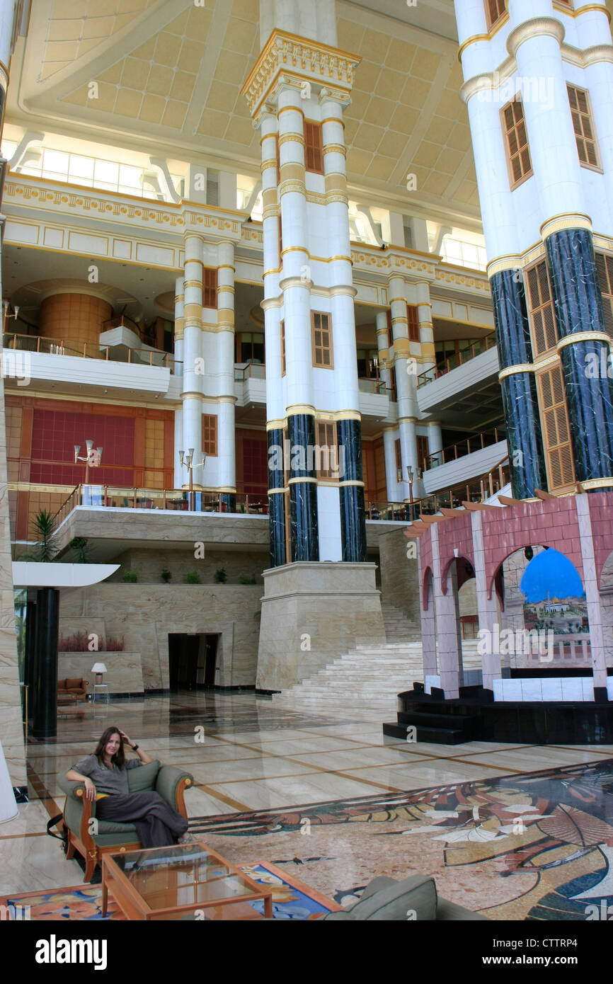 Interior of Empire Hotel and Country club, Brunei, Southeast Asia, model released - Stock Image