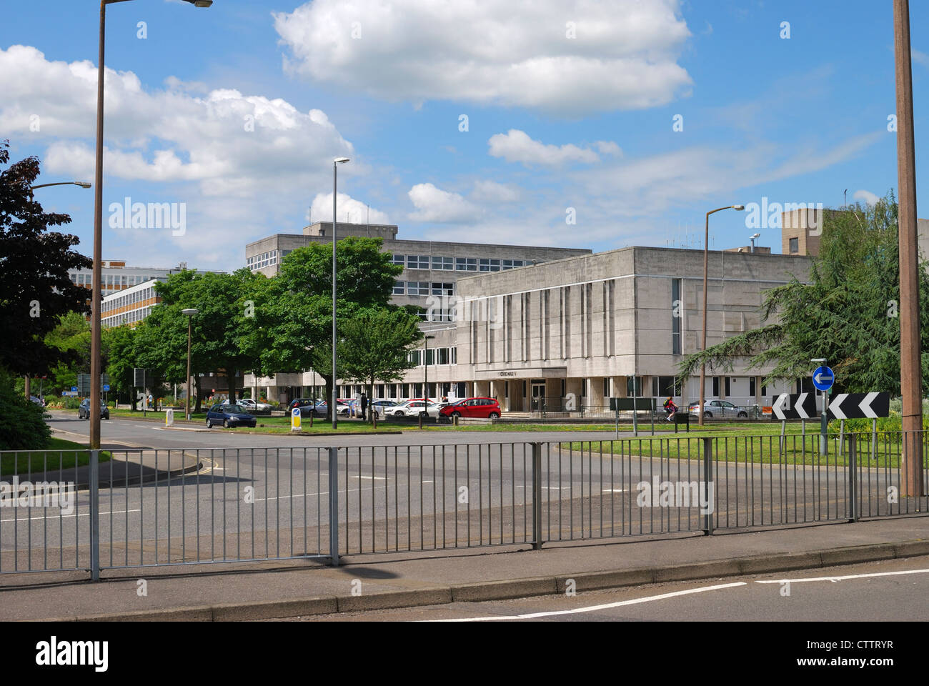 vCicic Hall and municipal buildings in Crawley. West Sussex. England - Stock Image