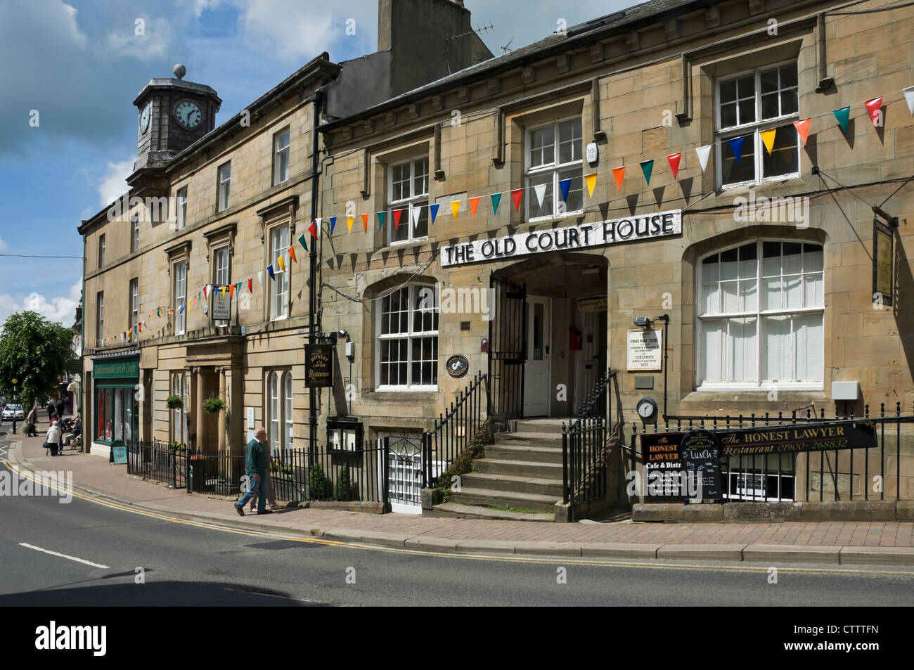 The Old Court House Main Street Cockermouth Cumbria England UK United Kingdom GB Great Britain - Stock Image