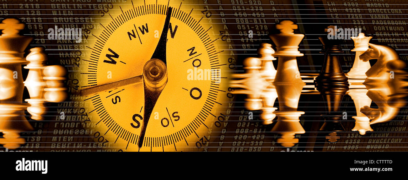 Composing Strategie und Ausrichtung - Stock Image