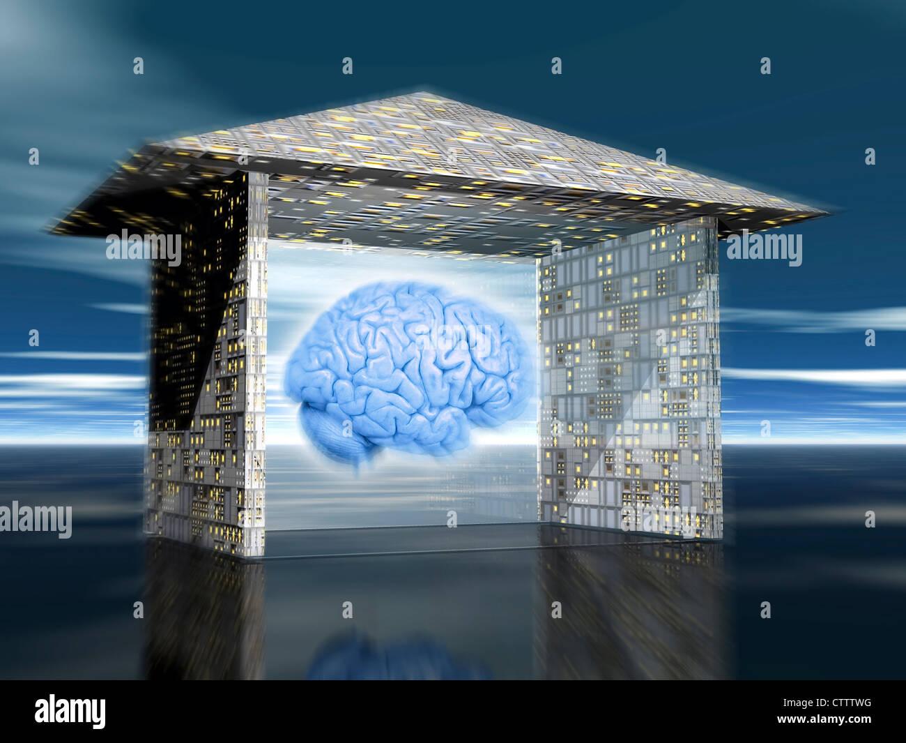 Intelligentes Haus, denkendes Haus Stock Photo