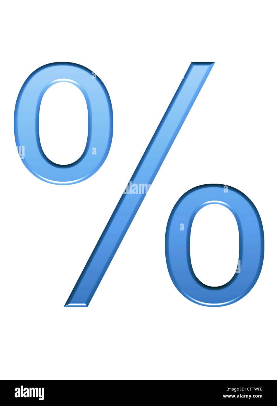 Prozentzeichen 3-D - Stock Image