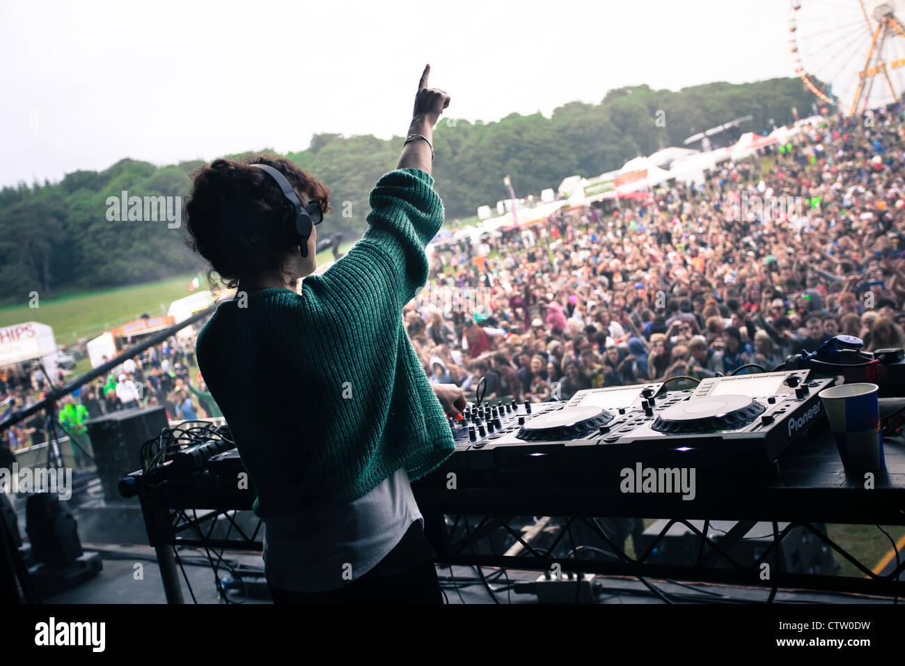 Annie Mac DJing - Stock Image