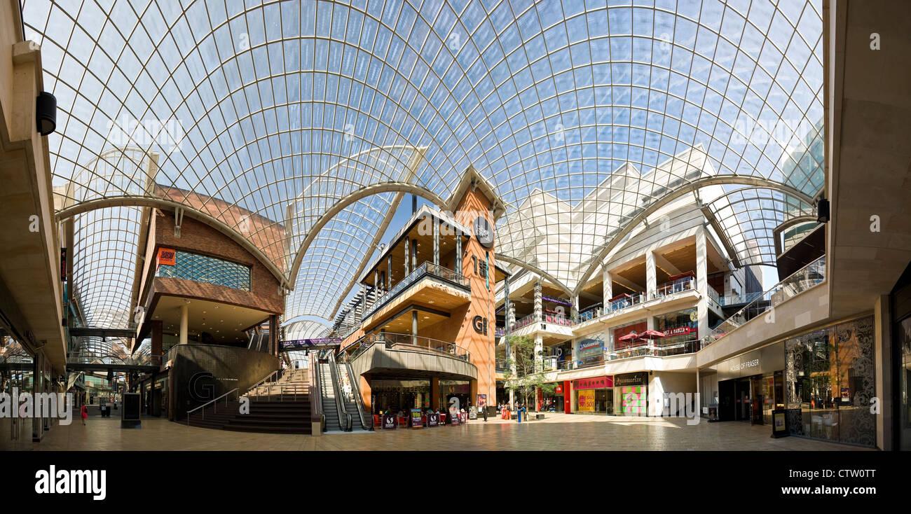 620f5fc1c89e Panorama of Cabot Circus shopping arcade, Bristol city centre, Avon, UK