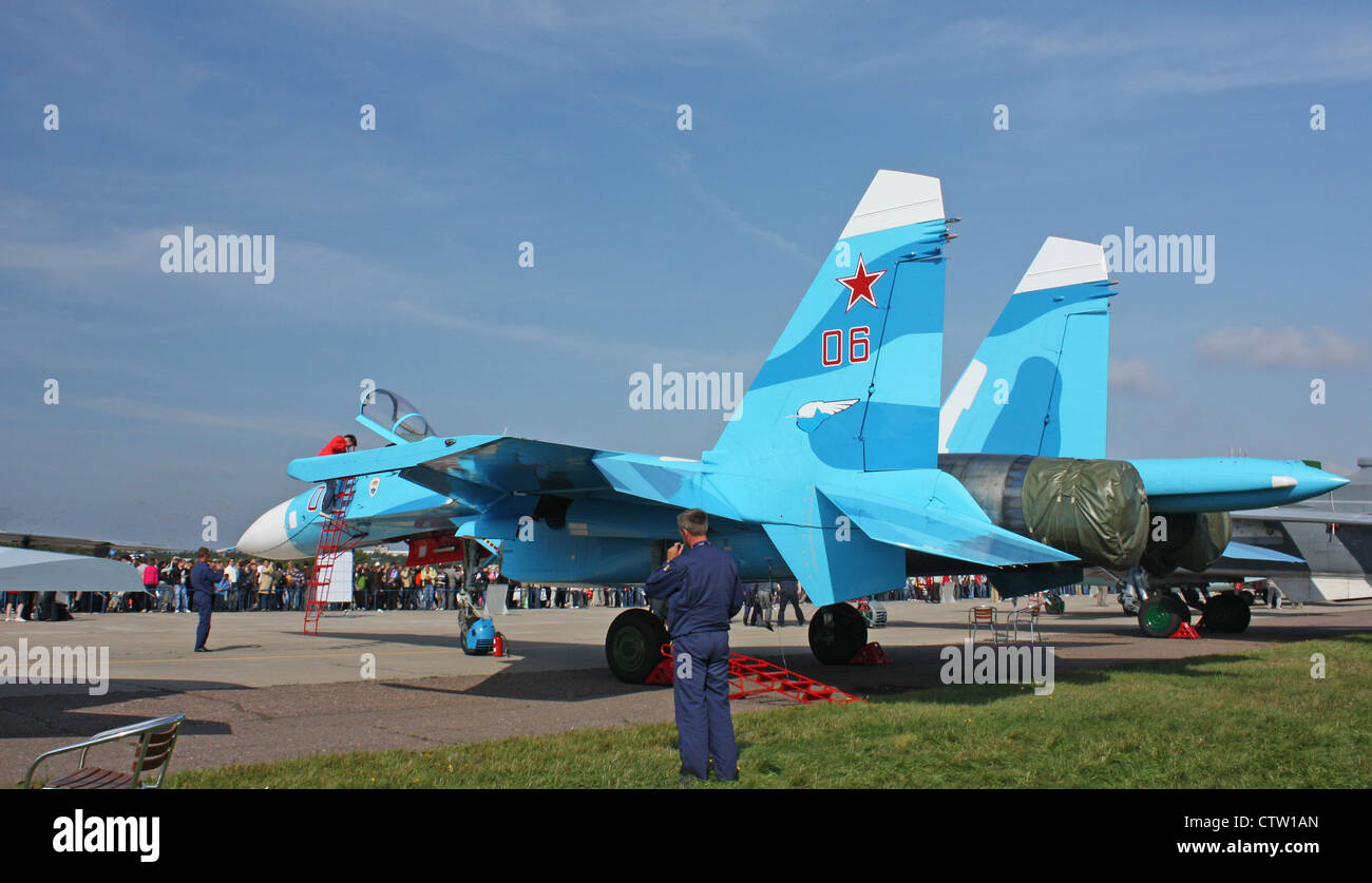 Sukhoi Su-27SM (The international aerospace salon MAKS-2009 - Stock Image