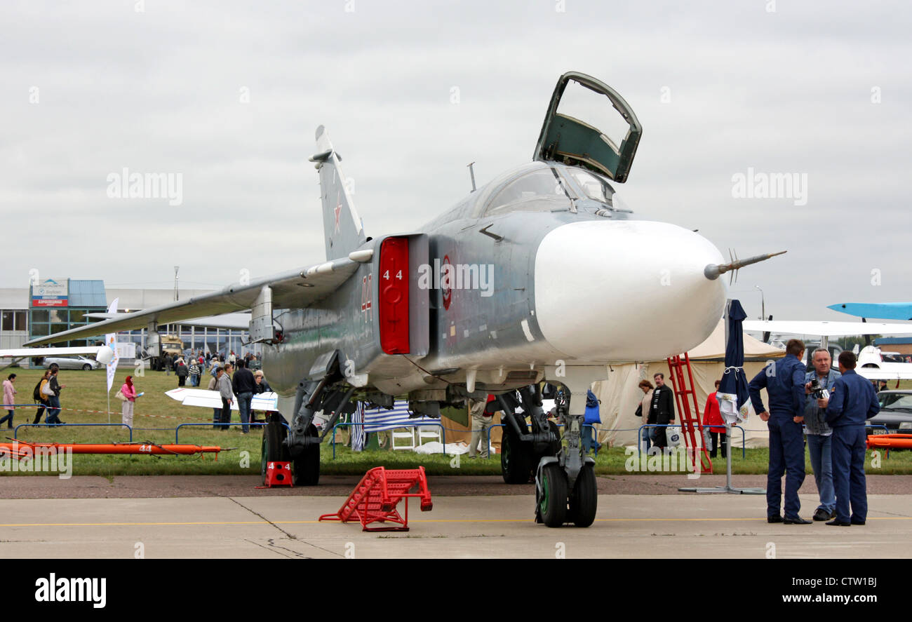 Sukhoi Su-24M (The international aerospace salon MAKS-2009 - Stock Image