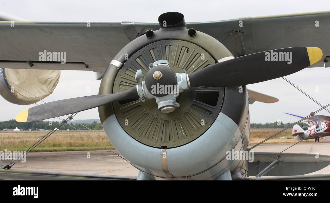 Polikarpov I-15 bis (The international aerospace salon MAKS-2009 - Stock Image