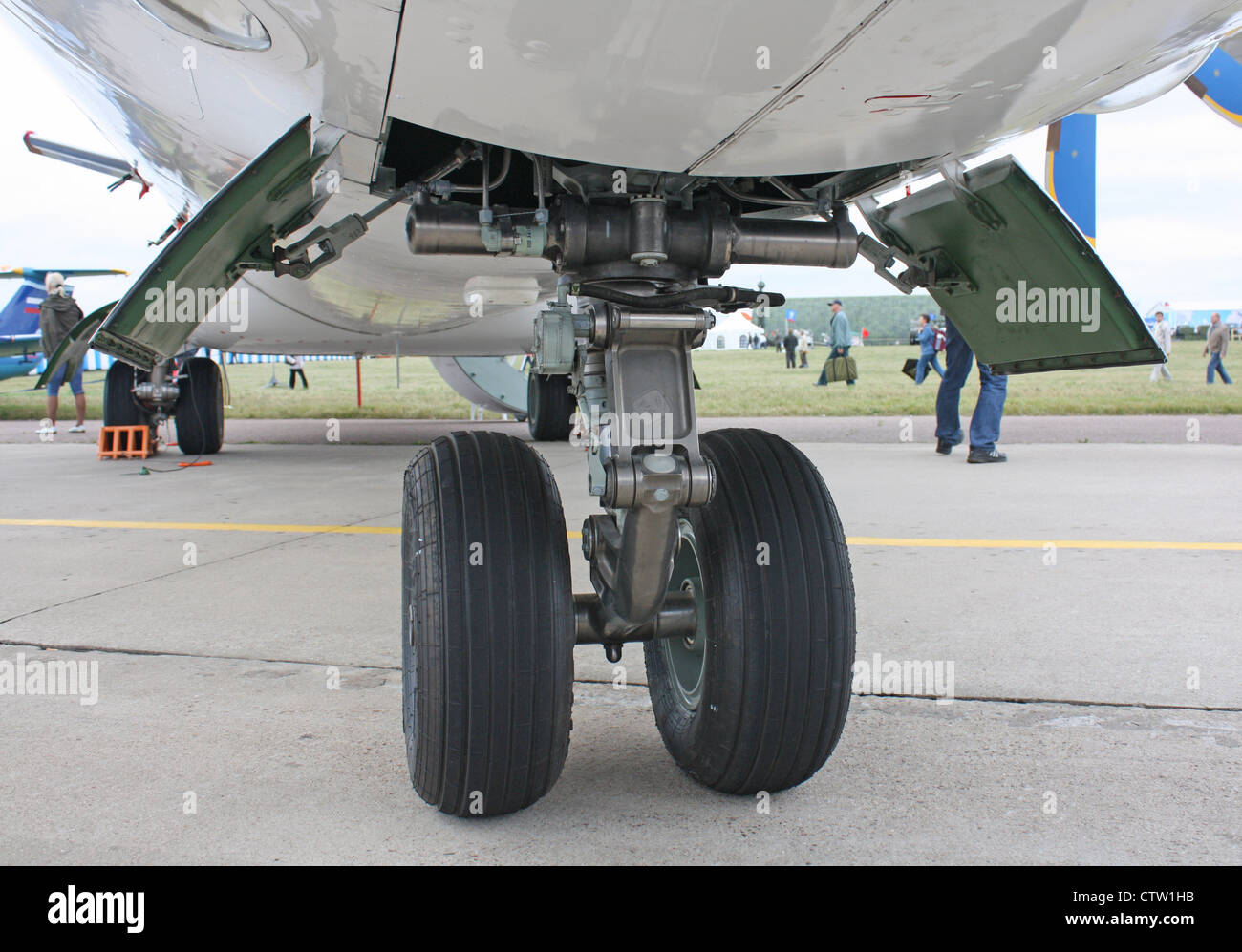 Antonov An-140-100 undercarriage - Stock Image