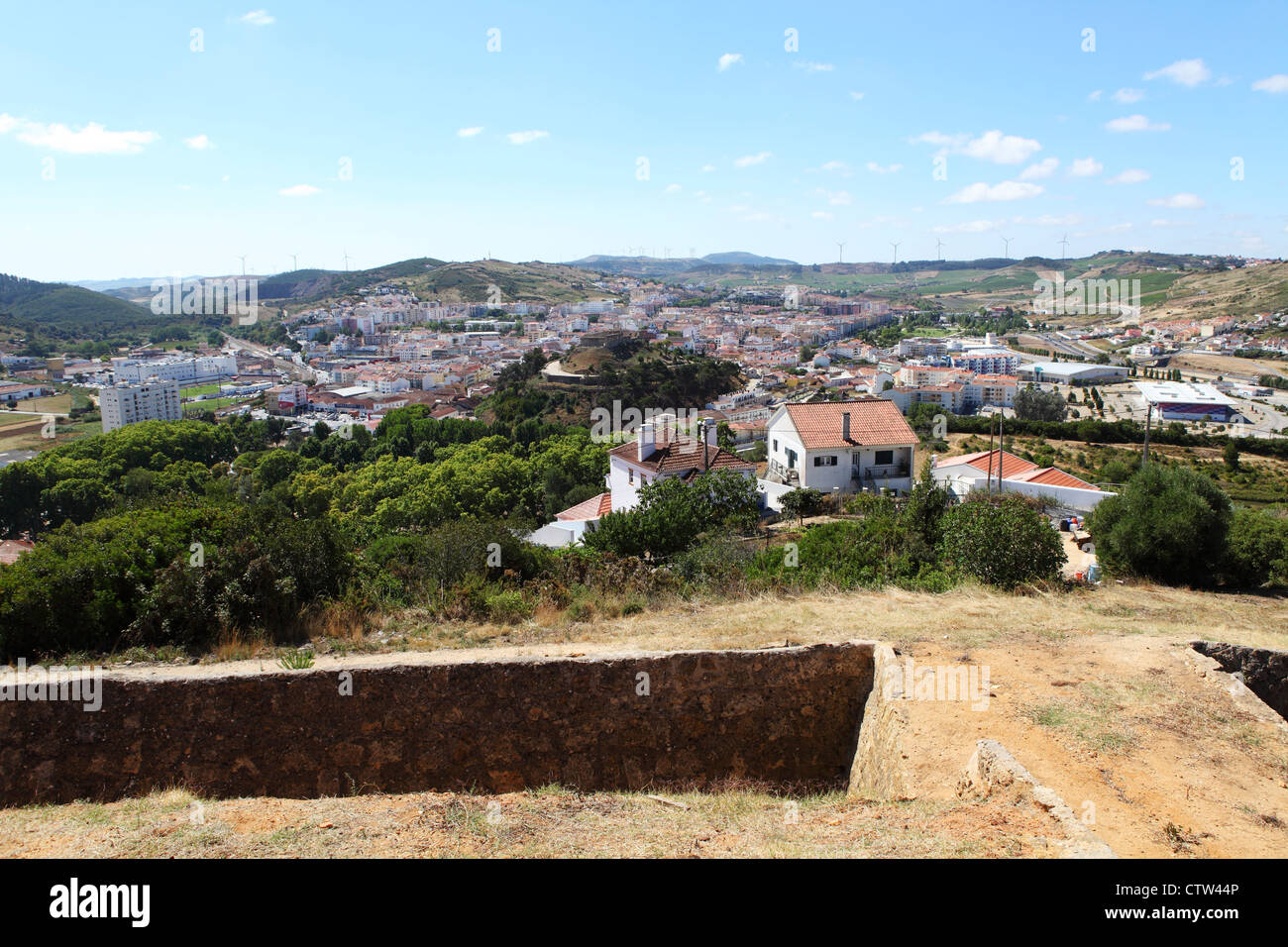 The town of Torres Vedras in Portugal. - Stock Image