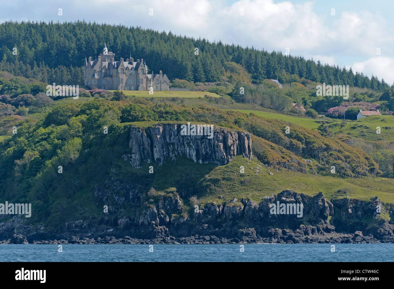 Glengorm Castle on the isle of Mull, Inner Hebrides, Scotland. June 2011. - Stock Image