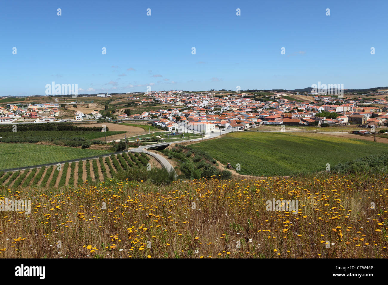 Countryside by the Lines of Torres Vedras around Lisbon, Portugal. - Stock Image