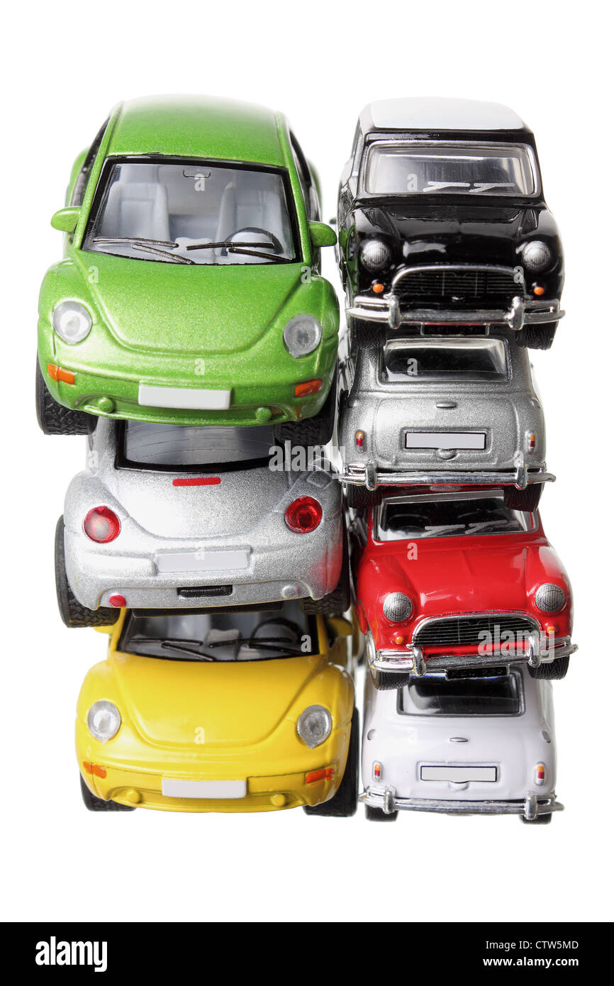 Stacks of Model Cars - Stock Image