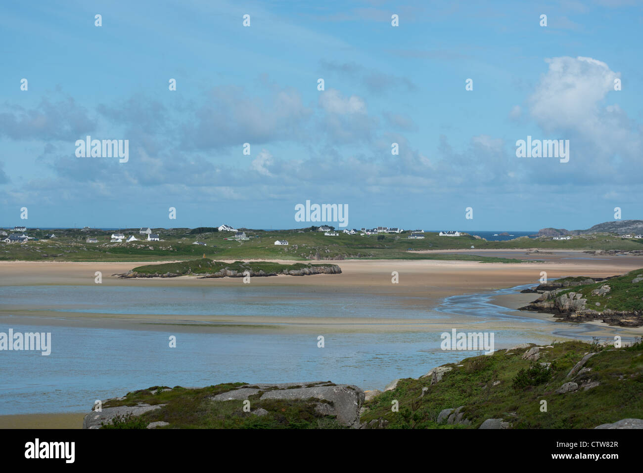 Small islands in the Rosses Bay, County Donegal, Republic of Ireland. - Stock Image