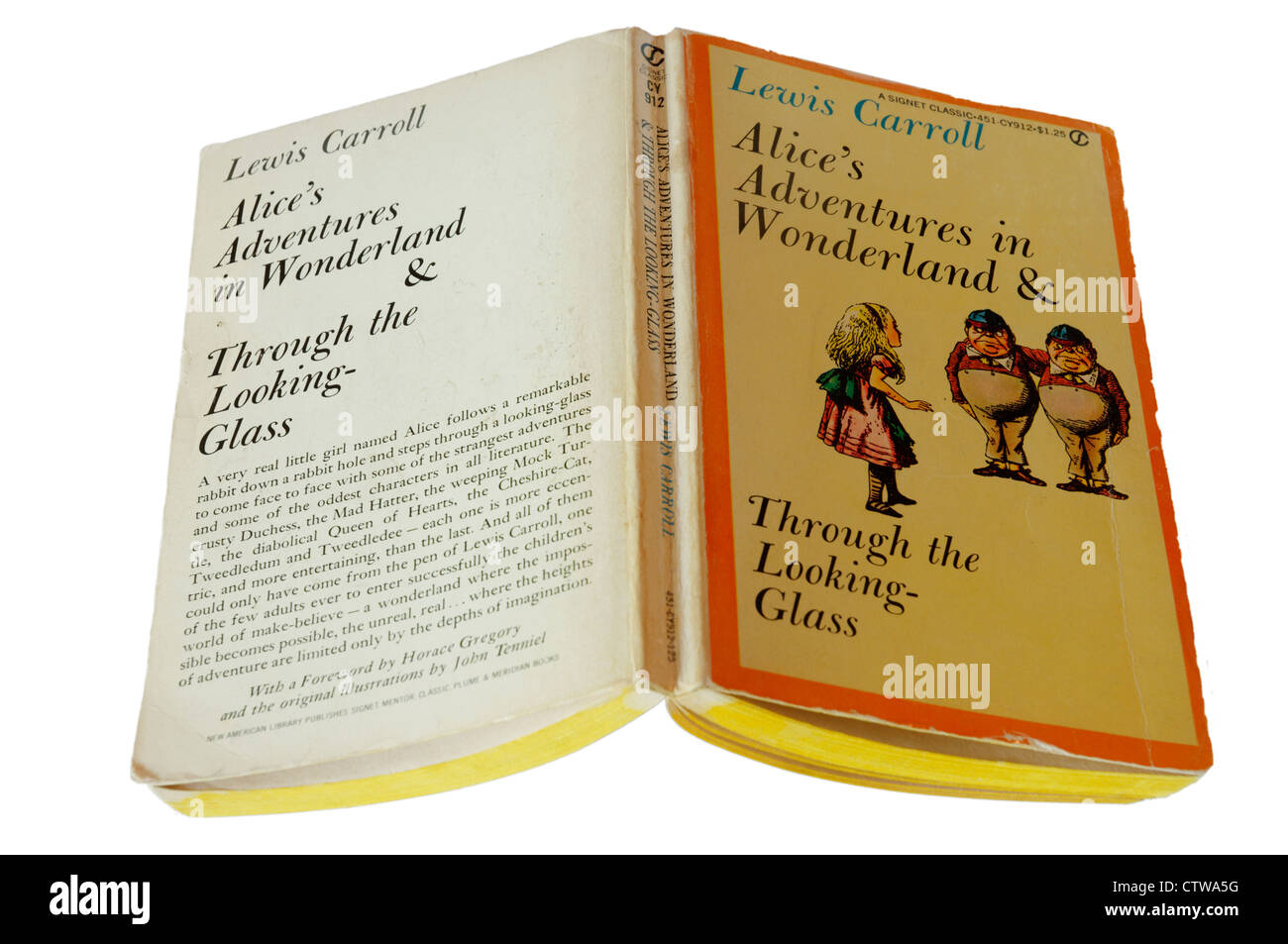Alice's Adventures in Wonderland by Lewis Carroll - Stock Image