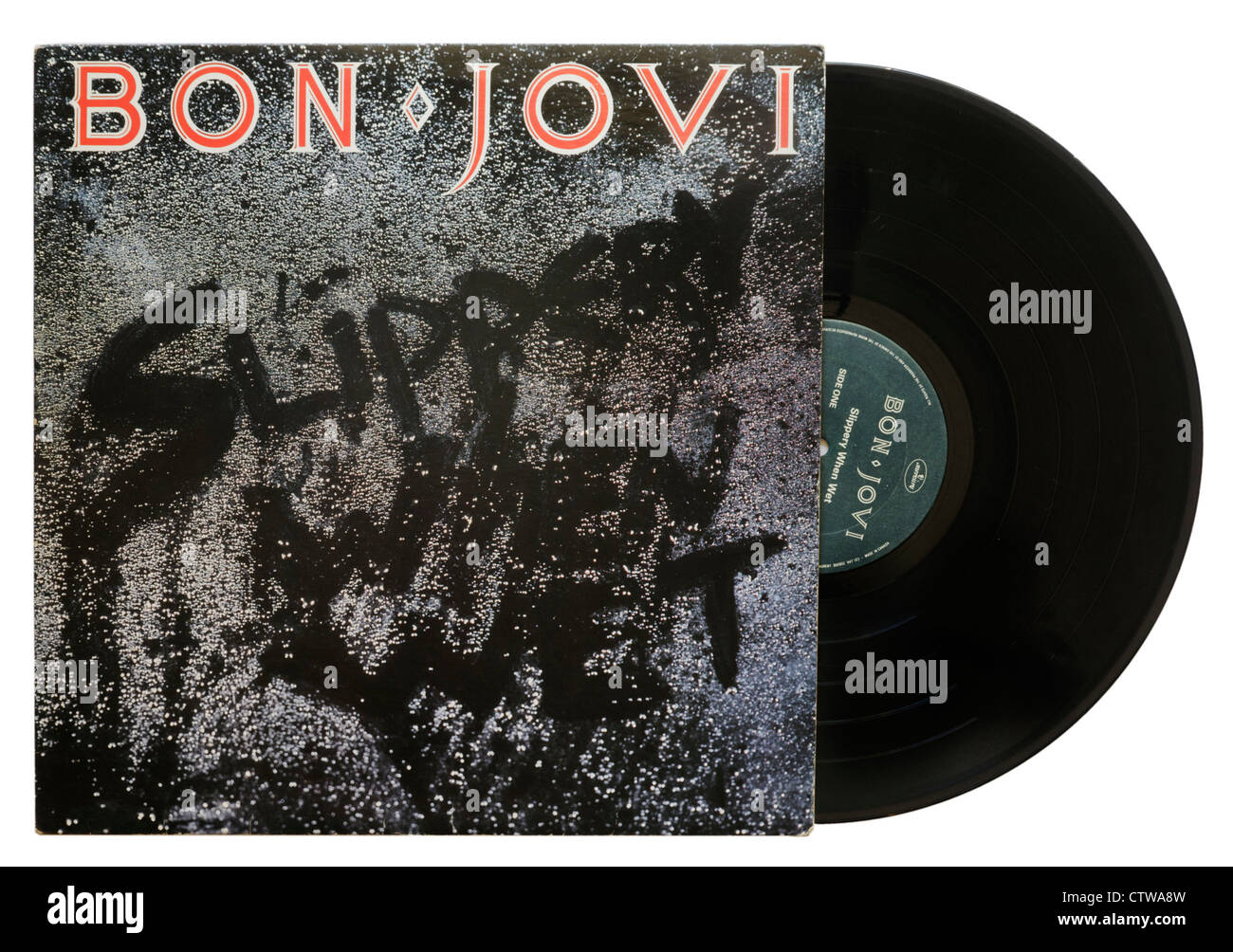 Slippery When Wet by Jon Jovi - Stock Image