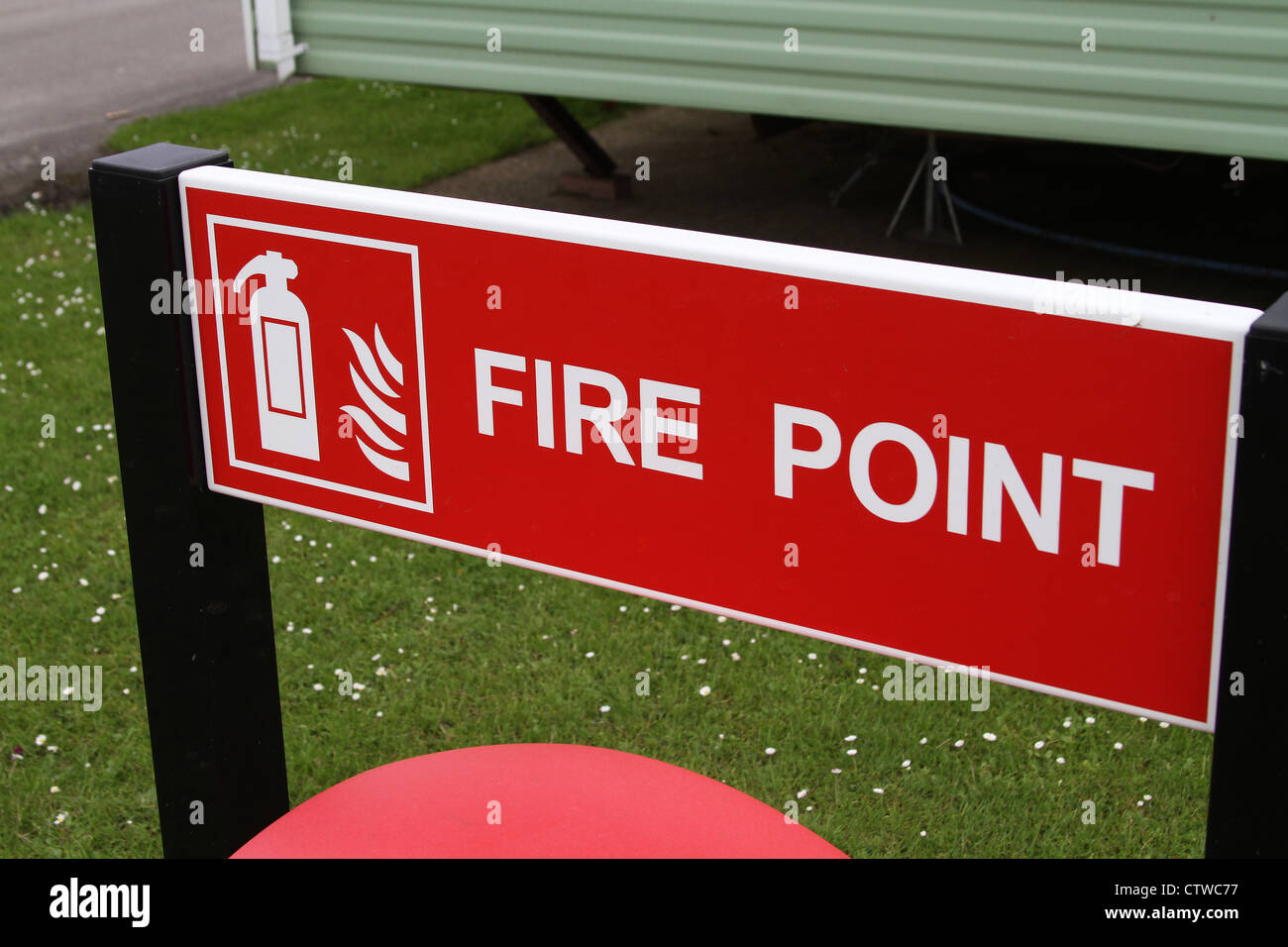 Fire point sign. - Stock Image