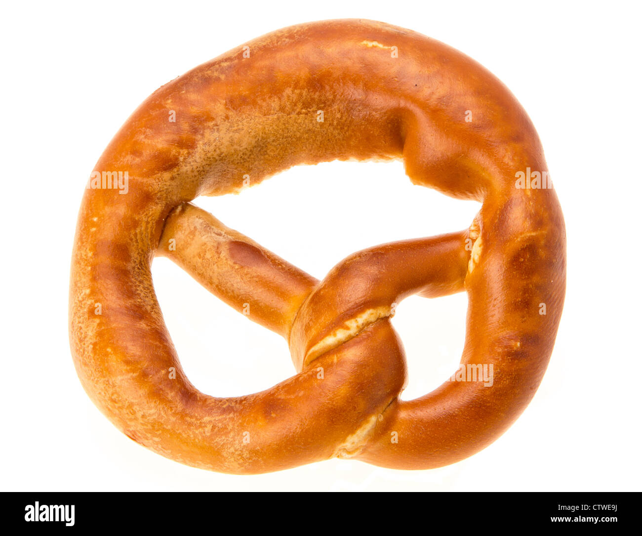 Pretzel - studio shot with a white background - Stock Image