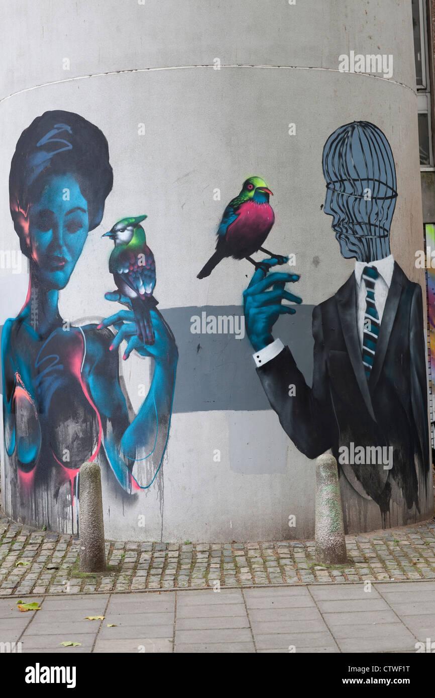 Bristol Street Art, UK - Stock Image