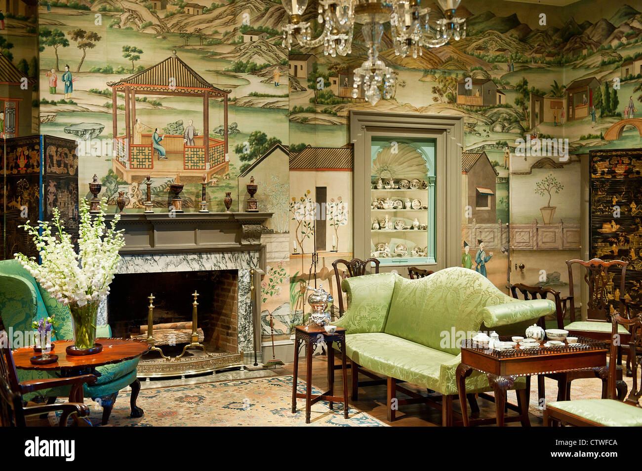 Winterthur decorative Arts Museum and Gardens, Delaware, USA - Stock Image