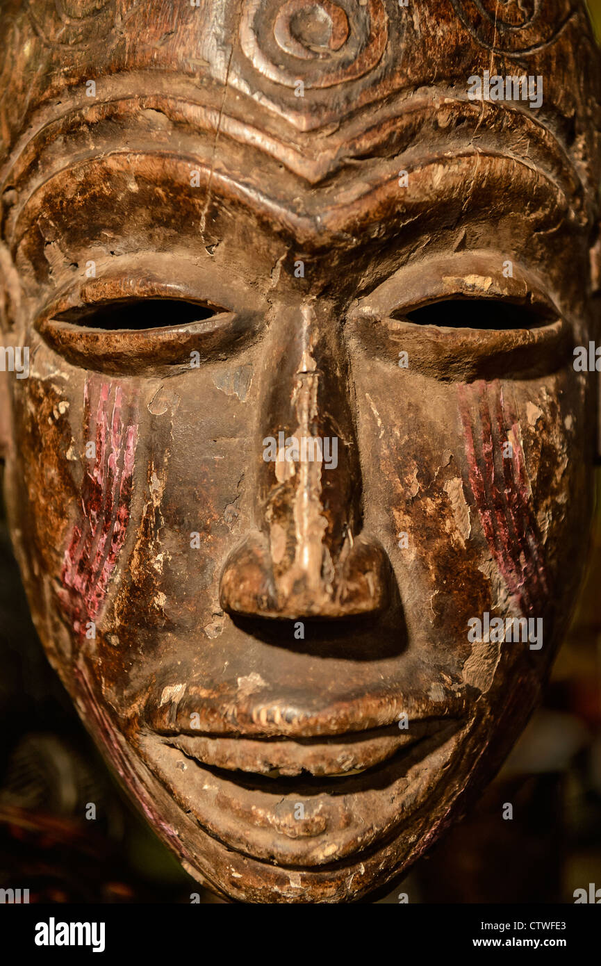 African tribal mask. - Stock Image